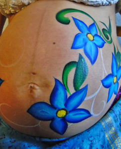 paso3 belly painting